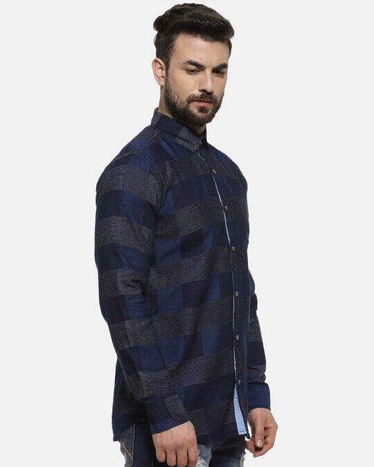 Shop Men Checkered Casual Shirt-Back