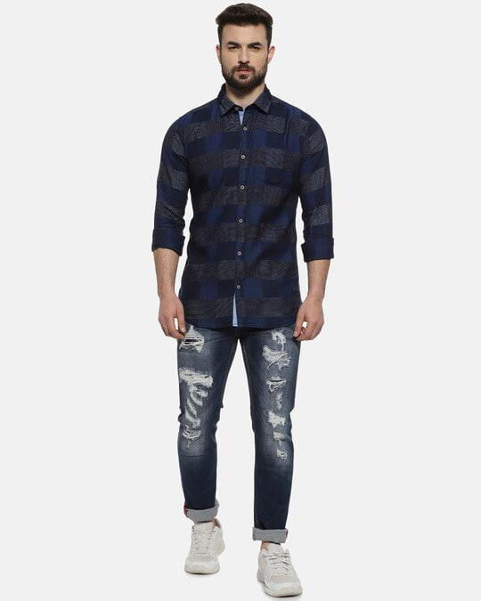 Shop Campus Sutra Men Checkered Casual Shirt-Full