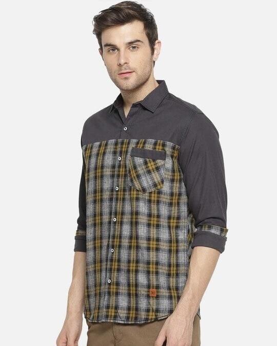 Shop Campus Sutra Men Checkered Casual Shirt-Back
