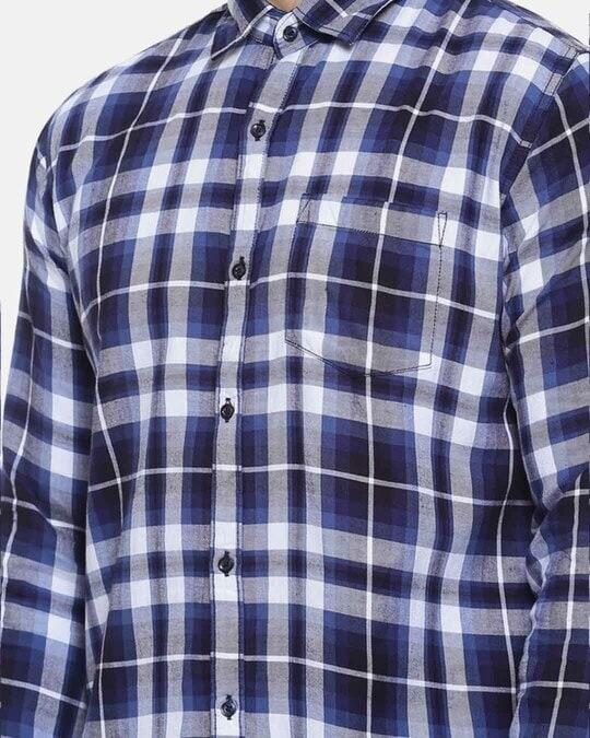 Shop Men Checkered Casual Stylish Spread Shirt