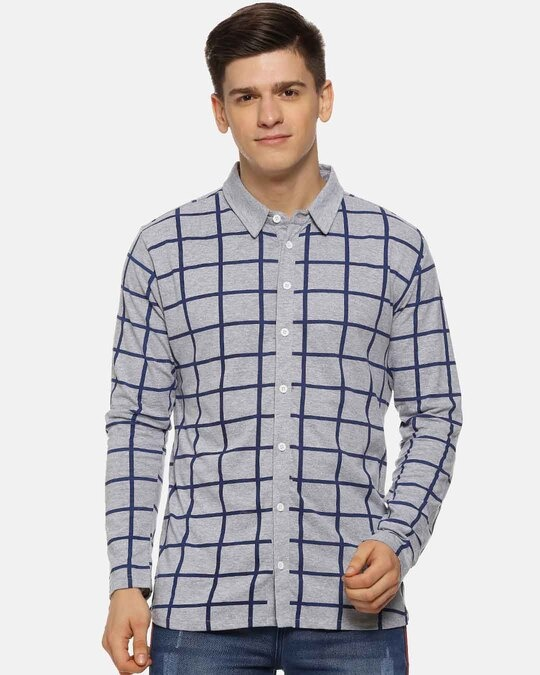 Shop Campus Sutra Men Checks Casual Shirt-Front