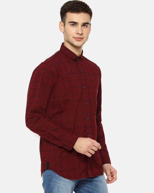 Shop Campus Sutra Men Checks Casual Shirt-Back
