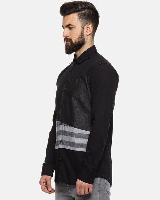 Shop Men Striped Casual Spread Shirt-Back