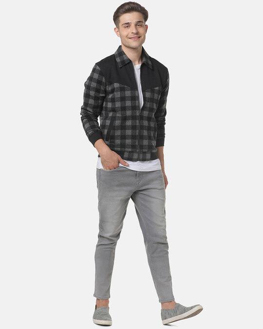 Shop Campus Sutra Men Checks Stylish Casual Jacket-Full