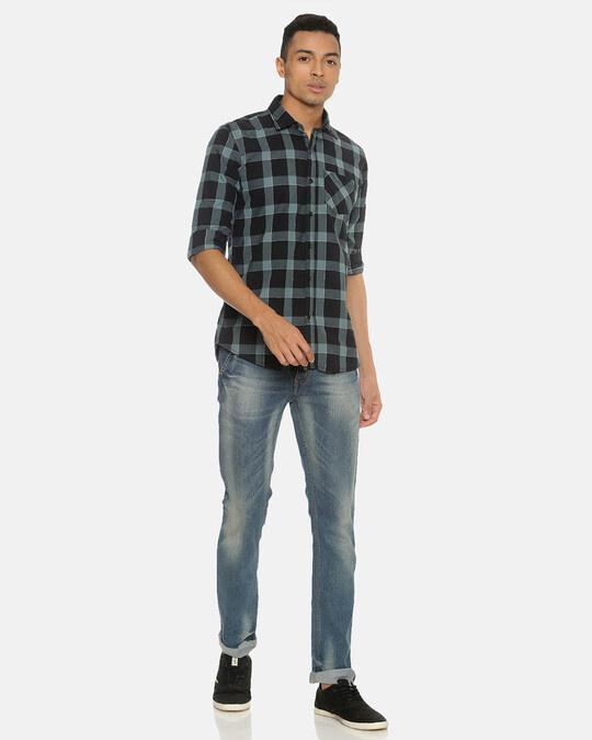 Shop Campus Sutra Men Checks Stylish Casual Shirts-Full