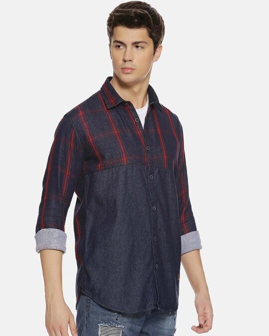 Shop Campus Sutra Men Checks Stylish Casual Shirts-Back