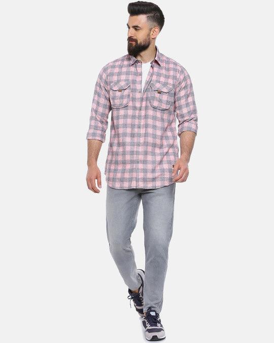 Shop Men Checks Stylish New Trends Spread Casual Shirt-Full