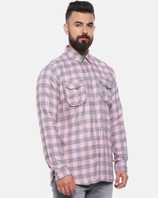 Shop Men Checks Stylish New Trends Spread Casual Shirt-Back