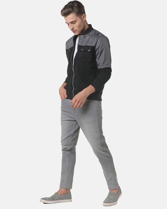 Shop Campus Sutra Men Colorblocked Stylish Casual Jacket-Full