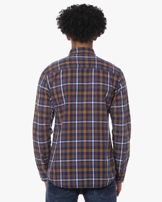 Shop Men Full Sleeve Checkered Casual Shirt-Design