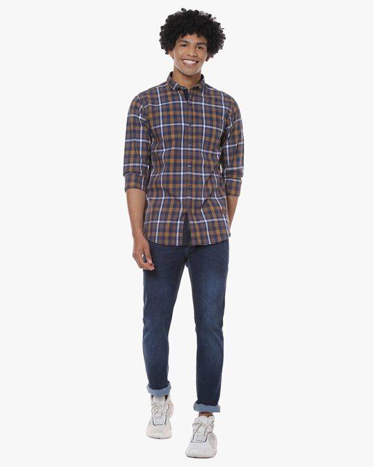 Shop Men Full Sleeve Checkered Casual Shirt-Full