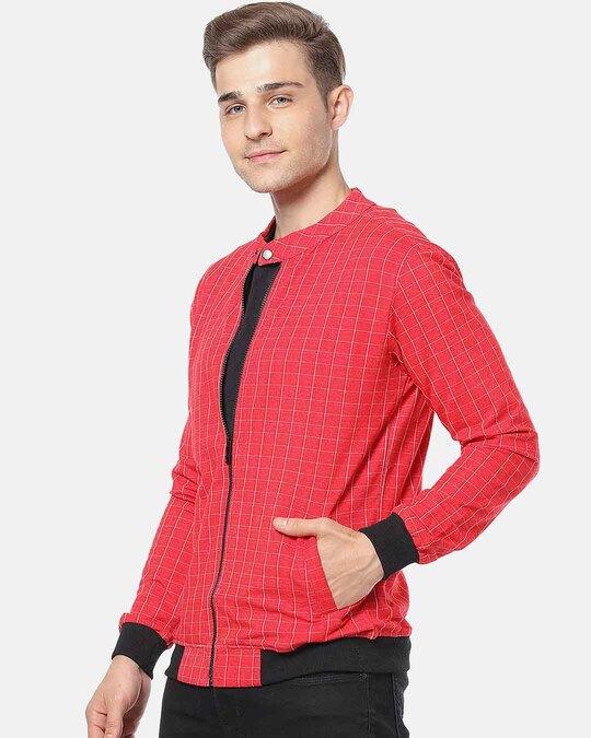 Shop Campus Sutra Men Full Sleeve Checks Stylish Casual Jacket-Back