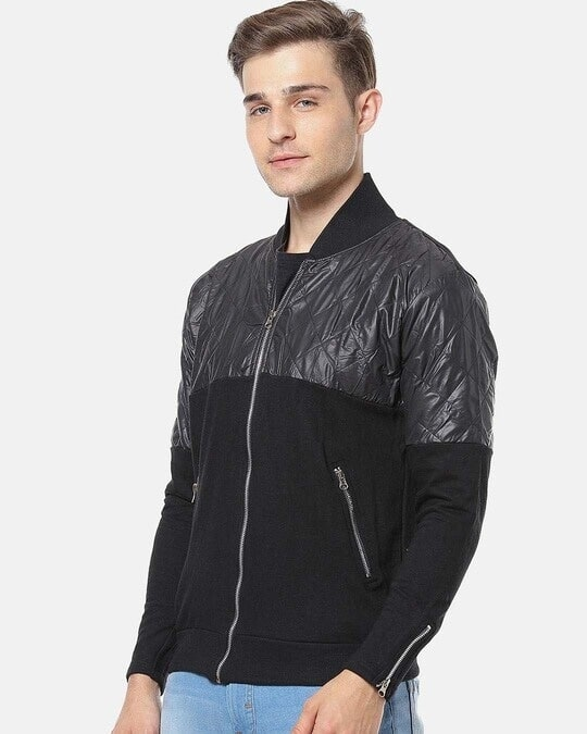 Shop Campus Sutra Men Full Sleeve Colorblocked Stylish Casual Jacket-Back