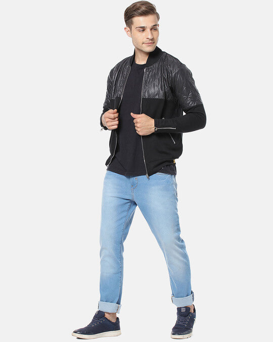 Shop Campus Sutra Men Full Sleeve Colorblocked Stylish Casual Jacket-Full