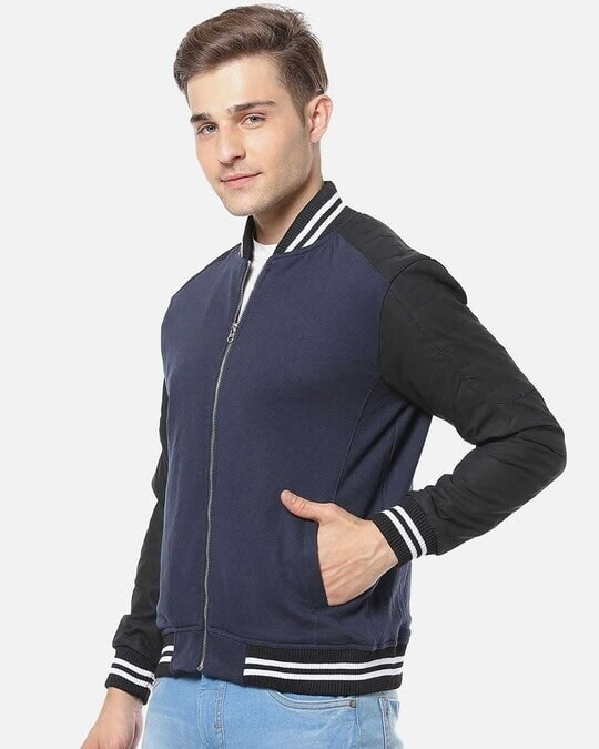 Shop Campus Sutra Men Full Sleeve Solid Stylish Casual Jacket-Back