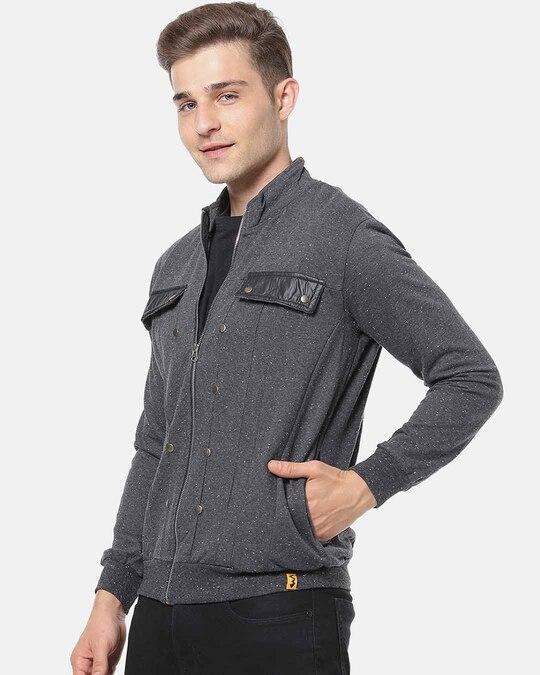 Shop Campus Sutra Men Full Sleeve Solid Stylish Jacket-Back