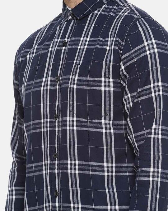 Shop Men Full Sleeve Spread Collar Checks Stylish Casual Shirts