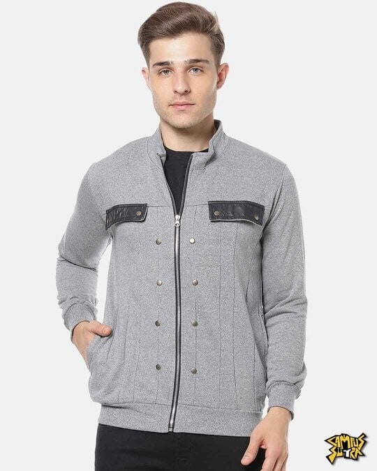Shop Campus Sutra Men Full Sleeve Stylish Casual Jacket-Front