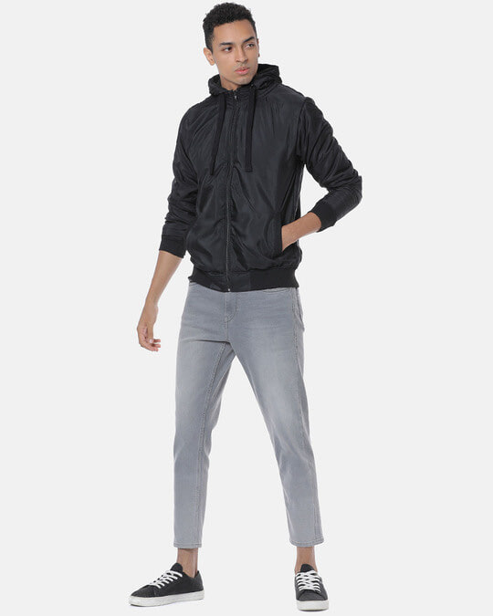 Shop Campus Sutra Men Stylish Casual Hooded Jacket-Full