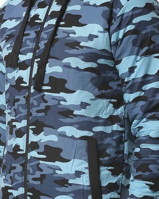 Shop Campus Sutra Men Camouflage Stylish Casual Jacket