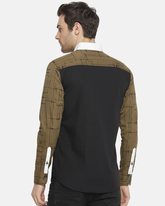 Shop Campus Sutra Men's Patch Sleeve Casual Shirt-Design