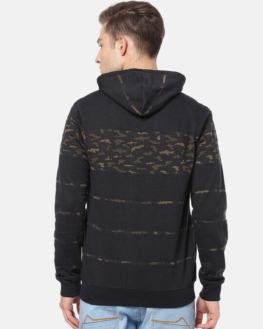 Shop Campus Sutra Men Stylish Camouflage Casual Hooded Sweatshirt-Design
