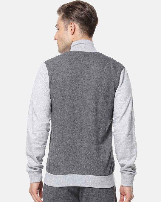 Shop Men Full Sleeve Solid Zipper Sweatshirt-Design