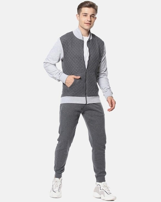Shop Campus Sutra Men Full Sleeve Solid Zipper Sweatshirt-Full