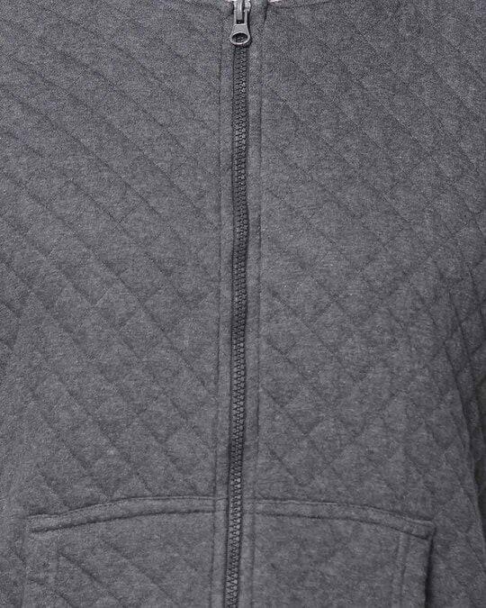 Shop Men Full Sleeve Solid Zipper Sweatshirt