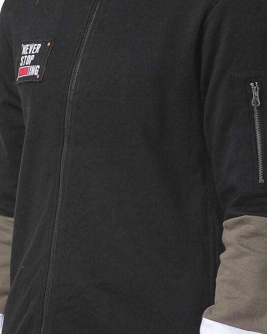 Shop Full Sleeve Solid Men Casual Zipper Sweatshirt