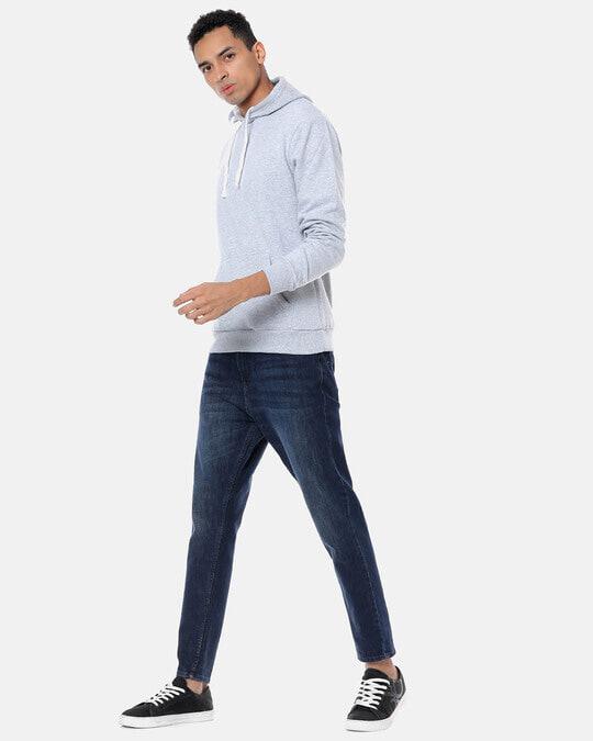 Shop Men Stylish Solid Casual Hooded Sweatshirt-Full