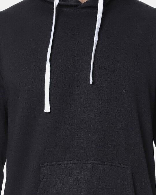Shop Campus Sutra Men Stylish Solid Casual Hooded Sweatshirt