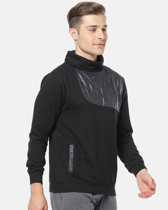 Shop Campus Sutra Men Full Sleeve Solid Stylish Sweatshirt-Back