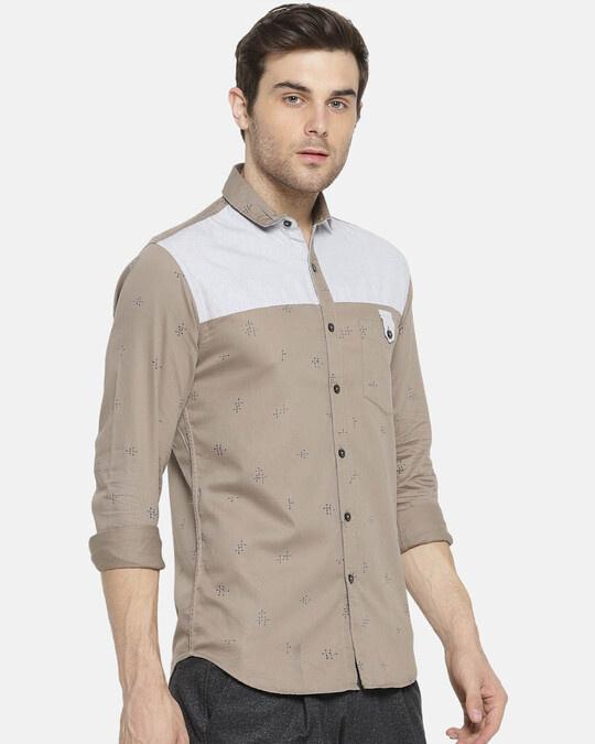 Shop Campus Sutra Men Self Design Casual Shirt-Design