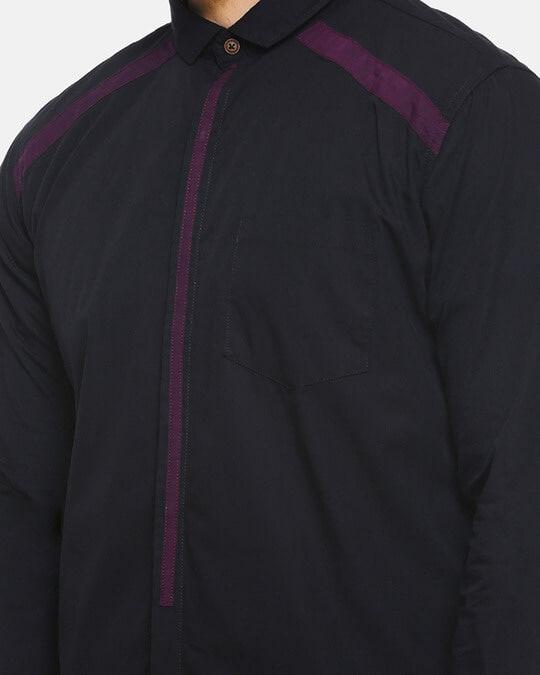 Shop Men Self Design Stylish New Trends Casual Spread Shirt