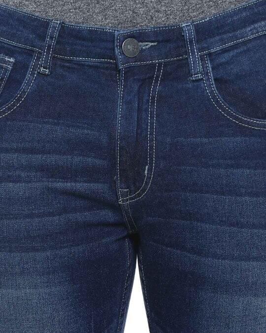 Shop Men Slim Fit Solid Stretch Stylish New Trends Blue Denim Jeans