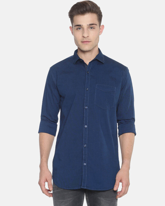 Shop Campus Sutra Men Solid Full Sleeve Stylish Casual Shirts-Front