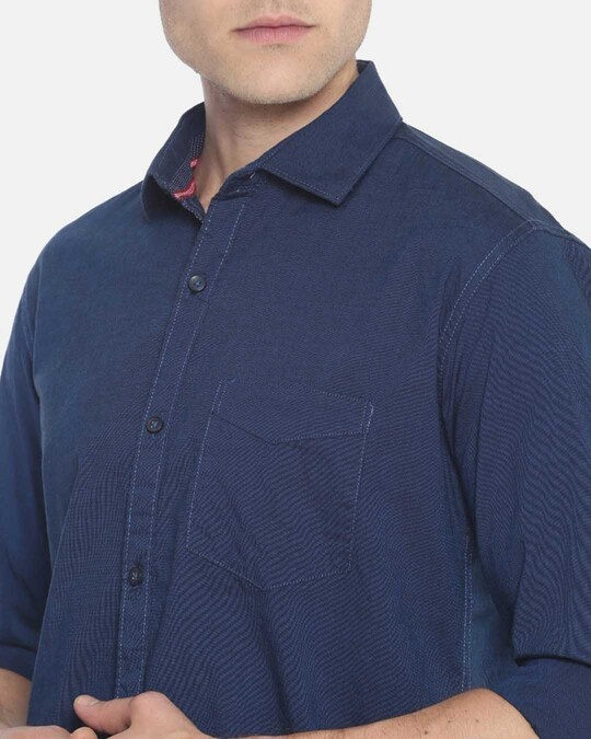 Shop Campus Sutra Men Solid Full Sleeve Stylish Casual Shirts