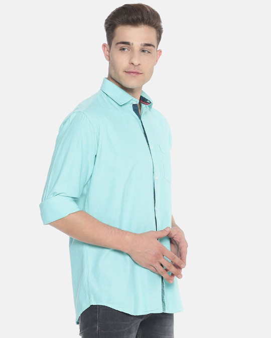 Shop Campus Sutra Men Solid Full Sleeve Stylish Casual Shirts-Back