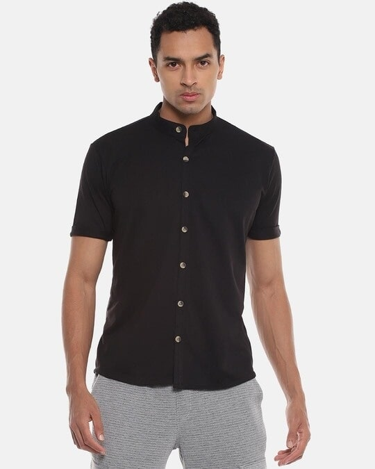 Shop Men Solid Stylish Half Sleeve Casual Shirts-Front