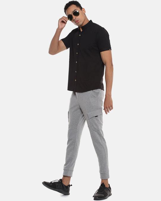 Shop Men Solid Stylish Half Sleeve Casual Shirts-Full