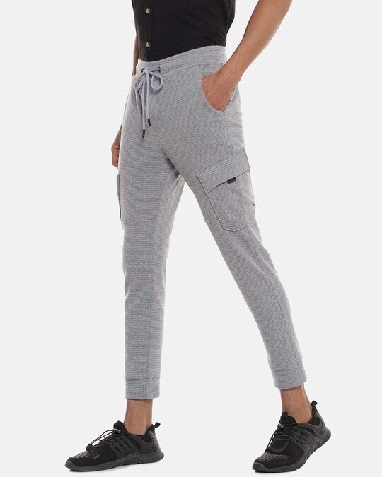 Shop Men Striped Stylish Casual & Evening Trackpant-Back