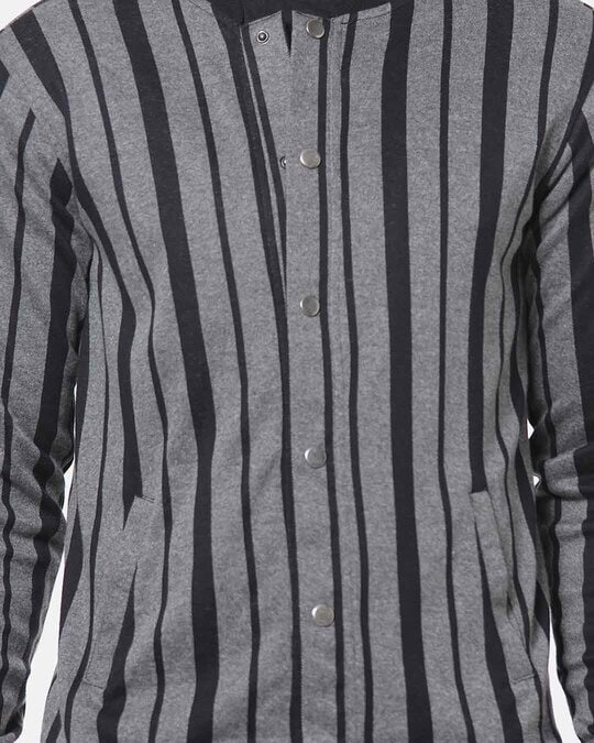 Shop Campus Sutra Men Striped Stylish Casual Jacket