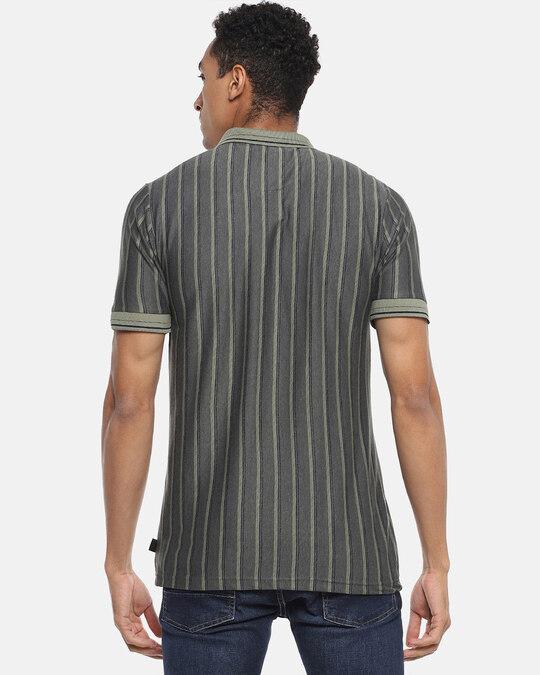 Shop Men Striped Stylish Casual Polo T Shirt-Design