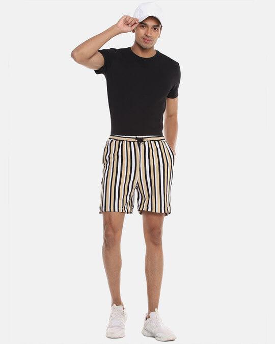 Shop Men Striped Stylish Sports & Evening Shorts-Full