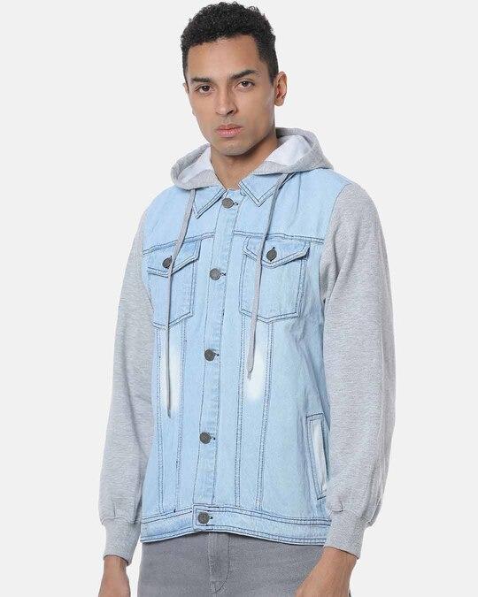 Shop Campus Sutra Men Stylish Casual Denim Jacket-Back