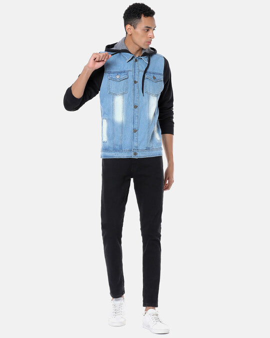 Shop Campus Sutra Men Stylish Casual Denim Jacket-Full