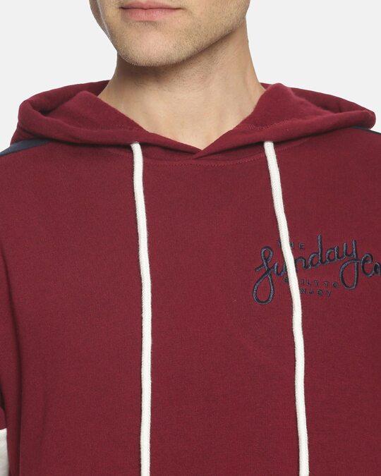 Shop Men Stylish Color Blocked Casual Hooded Sweatshirts