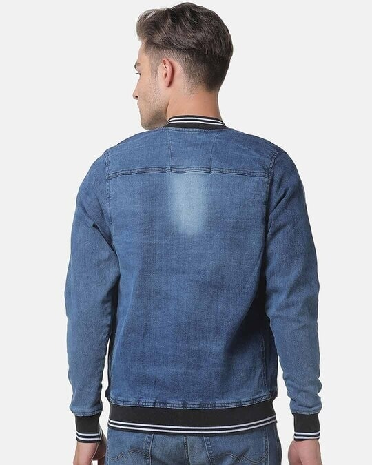 Shop Campus Sutra Men Stylish Full Sleeve Denim Jacket-Design