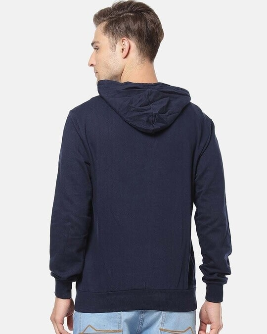 Shop Campus Sutra Men Stylish Solid Casual Hooded Sweatshirt-Design
